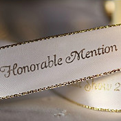 Personalized Gold Range Wedding Decoration Ribbon - 100 Yards Per Roll (More Colors, More Width)