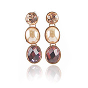 Charming 18K Gold Plated Cubic Zirconia Drops Earrings(More Colors)