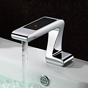 Electric Touch Numerical Control Sensor Bathroom Sink Faucet - Chrome Finish