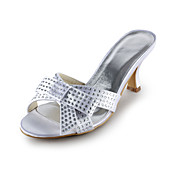 Satin Stiletto Heel Sandals With Beading Wedding/Party Shoes (More Colors)