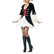 Adult Women's Sexy Swashbuckler Pirate Black Halloween  Costume