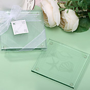 Glass Beach Seashell Coaster Favors (Set of 2)