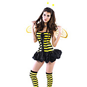 Sexy Cute Honey Bee Женские платья Halloween Costume (3pieces)