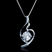 Fine Jewelry Elegant Zircon Sterling Silver Necklace