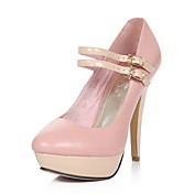 Elegant Leather Stiletto Heel Pumps/Platform With Buckle Wedding/Party Shoes (More Colors)