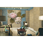Pink Floral Contemporary Graphics Nature Mural