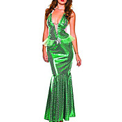Sexy Womens Green Fish scaleAdult Mermaid Costume(2 Pieces)