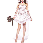 Sexy Ghost Bride Corpse Wedding voksne Halloween kostume (4Pieces)