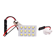 Auto LED Leselampe mit 12 LEDs in White Light (Kommt in Pair, 1.2W, 1210, Lumen (LM) 50, Farbtemperatur 8000K, 12V)