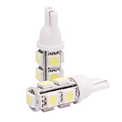 T10 Car Light in einem Paar (5050, 4W, Lumen (LM) 110, Farbtemperatur 6000-6500K, 12V, mit 9 LEDs, White Light)