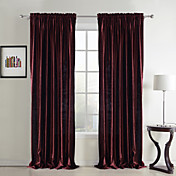 (Two Panels) Classic Velvet Solid Lined Curtains