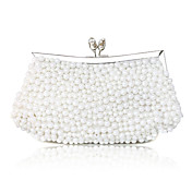 Elegant Silk with Pearls Evening Handbag/Clutches