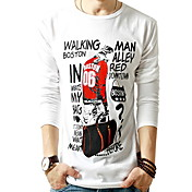 Men's Fleece Print Slim T-shirt