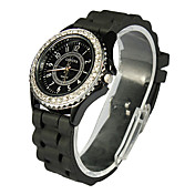 Unik Alloy med Crystal Round Dress Watch