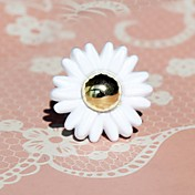 White Flower Alloy Country Lolita Ring