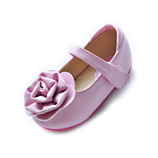 Kids' Leatherette Flat Heel Closed Toe With Velcro/Flower Party/Evening Shoes(More Colors)