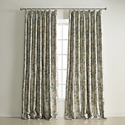 (Two Panels) Traditional Floral Reversible Blackout Curtains