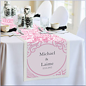 Personalized Reception Desk Table Runner - Pink Floral Print