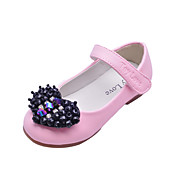 Kids' Leatherette Flat Heel Closed Toe With Heart Shaped Rhinestone Party/Evening Shoes