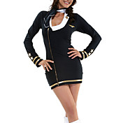 Sexy Stewardess Dress Halloween Costume (2 Pieces)