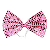 Pink Sequins Bow Halloween Cravat(1 piece)