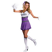 Sexy Purple Cheerleaders Dress Halloween Costume(1 Piece)