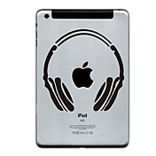 Headset Design Protector Sticker for iPad Mini