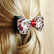 Handmade Red and Black Satin 12cm Bow Classic Lolita Headdress