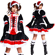 Long Sleeve Knee-length multi-color Cotton Cosplay Lolita Outfit