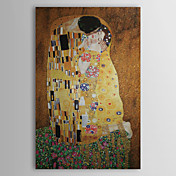Kuss von Gustav Klimt Museum Quality mit Goldfolie