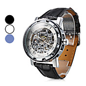 Montre Mcanique Tendance, Analogique, en PU, Unisexe - Assortiment de Couleurs