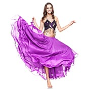 Dancewear Chiffon With Ruffles Three layers Performance Belly Skirt for Ladies More Colors