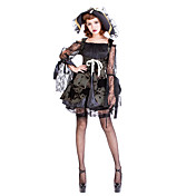 Charming Black Lace And Polyester Wizard Costumes(2 Pieces)