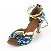 Women's Satin / Rhinestone Upper Ankle Strap Latin / Salsa Dance Shoes (More Colors)