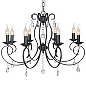 60W E14 8-light Palace Style Chandelier in Candle Feature