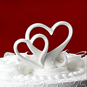 &quot;You're the Top&quot; Interlocking Double Hearts Cake Topper