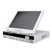 New Arrival H.264 4 Channel D1 DVR System with 10.5 Inch LCD Display Screen