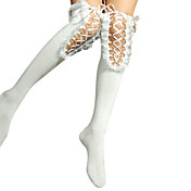 Fancy Lace Ribbon Cotton Aristocrat Lolita Stockings