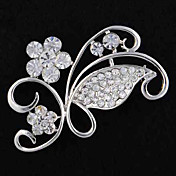 Shiny Curly Vine Small Flower Alloy Brooch