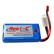 Real-C High Rate 1300mAh 7.4V 2S 20C Li-Polymer batteri