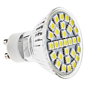 GU10 5W 29x5050 SMD 400-6000-6500K 450lm Ampoule Natural White Spot LED (110-240V)