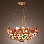 22 Inch Tiffany-style Dragonfly Pattern Natural shell Material Inverted Pendant Light  (0835-D8027)