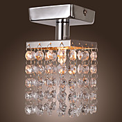 Mini Semi Flush Mount in Crystal (Chrome Finish)