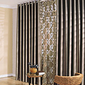 (Two Panels) Classic Solid Thick Blackout Curtains