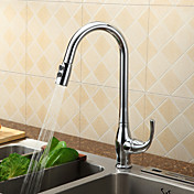 Sprinkle® by Lightinthebox - Contemporary Pull Down Solid Brass Kitchen Faucet (Chrome Finish)