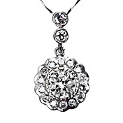 Gorgeous 925 Silver With Cubic Zirconia Plating Platinum Women's Necklace