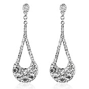 Elegant Alloy Crystal Irregular Chandelier Earrings