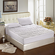 300TC Cotton Sateen With Leaf Quilting Mattress Pad