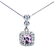 925 Silver With Cubic Zirconia Plating Platinum Women's Necklace
