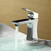 Sprinkle® by Lightinthebox - Chrome Finish Centerset Single Handle Brass Bathroom Sink Faucet